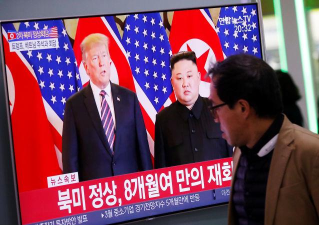 لقاء الرئيس الأمريكي دونالد ترامب وزعيم كوريا الشمالية كيم جونغ أون في هانوي، فيتنام 27 فبراير/ شباط 2019