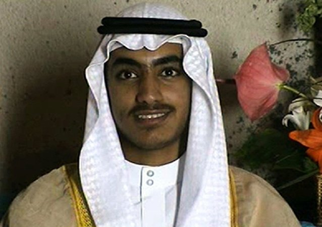 In this image from video released by the CIA, Hamza bin Laden is seen as an adult at his wedding