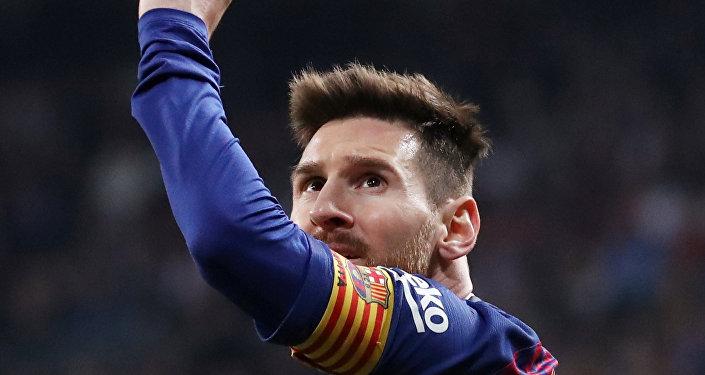 كابتن فريق نادي برشلونة، ليونيل ميسي، مباراة برشلونة وريال مدريد، 27 فبراير/ شباط 2019