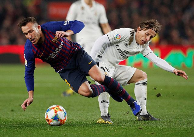 لوكا مودريتش، مباراة برشلونة وريال مدريد، 6 فبراير/ شباط 2019