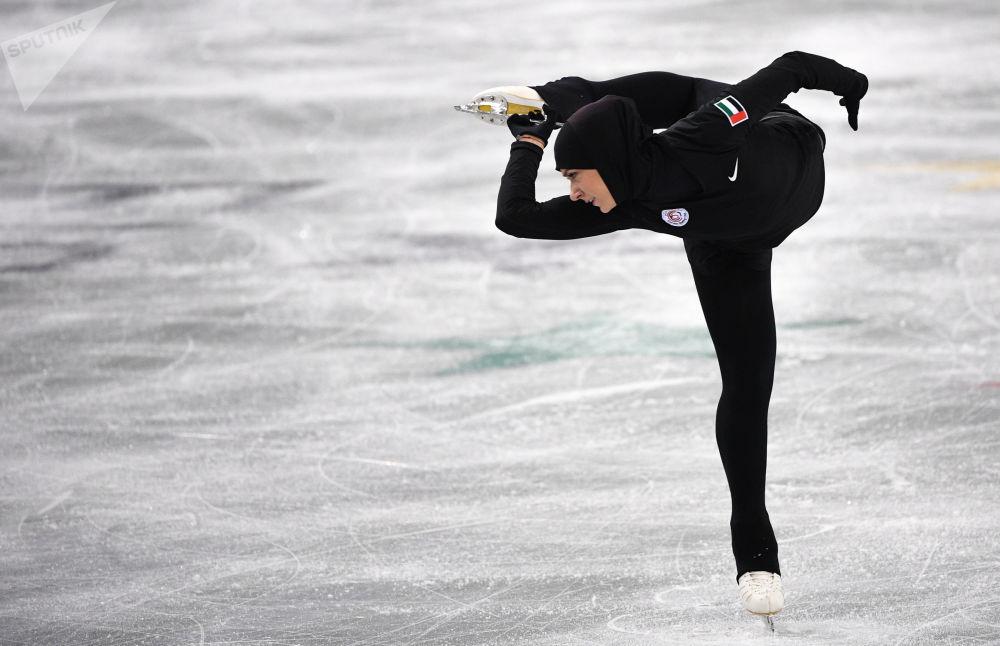 المتزلقة الإماراتية على الجليد زهرة لاري، دورة الألعاب الدولية الجامعية الشتوية، كراسنويارسك، روسيا 2019