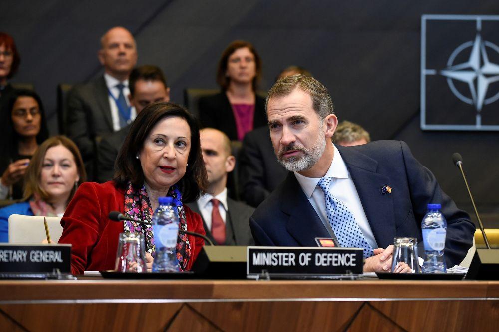 وزيرة الدفاع الإسبانية مارغريتا روبلز في بروكسل، إسبانيا 21 أكتوبر/  تشرين الثاني 2018