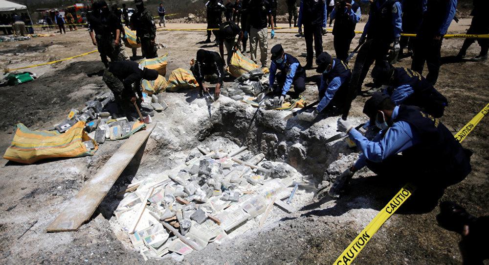 الشرطة تدمر كمية من الكوكايين في هندوراس