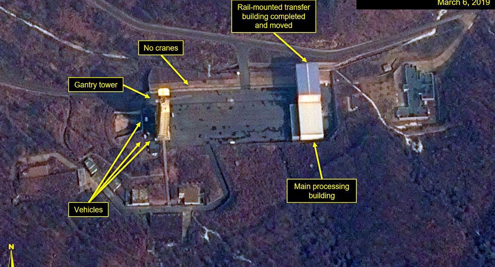 صورة بالقمر الصناعي لمحطة إطلاق سوهي في كوريا الشمالية