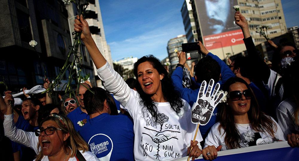 تظاهرات البرتغال