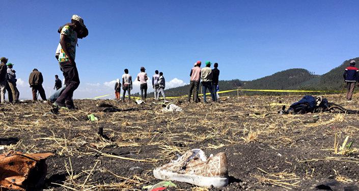 موقع سقوط الطائرة الإثيوبية