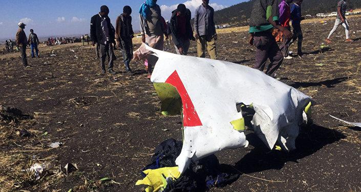 مكان تحطم الطائرة الأثيوبية