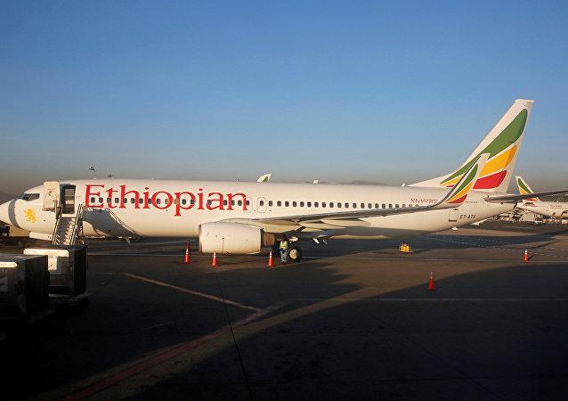طائرة تابعة لخطوط الطيران الإثيوبية