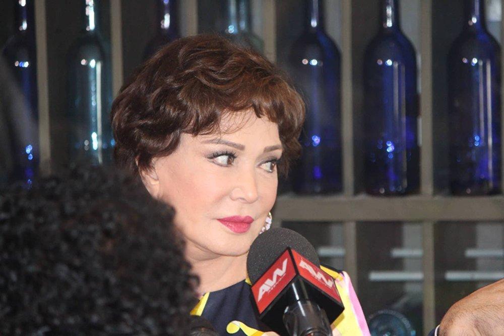 الفنانة المصرية لبلبة في مهرجان الأقصر للسينما الأفريقية الثامن