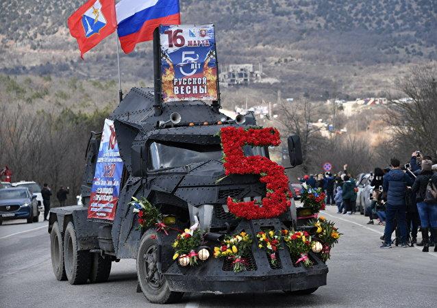 روسيا تحتفل بالذكرى الخامسة  لضم شبه جزيرة القرم