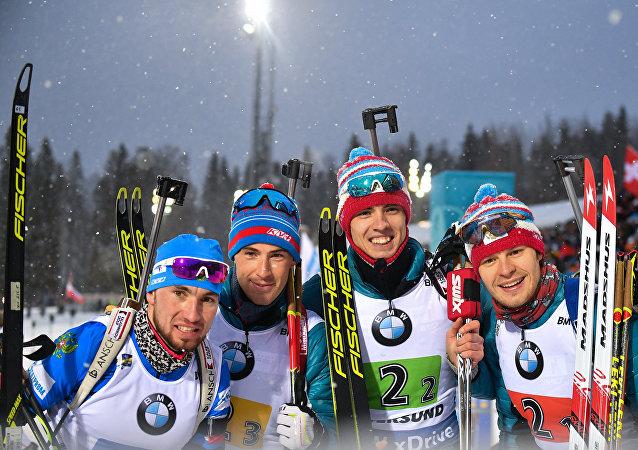 الفريق الروسي في بطولة العالم للبياثلون في السويد