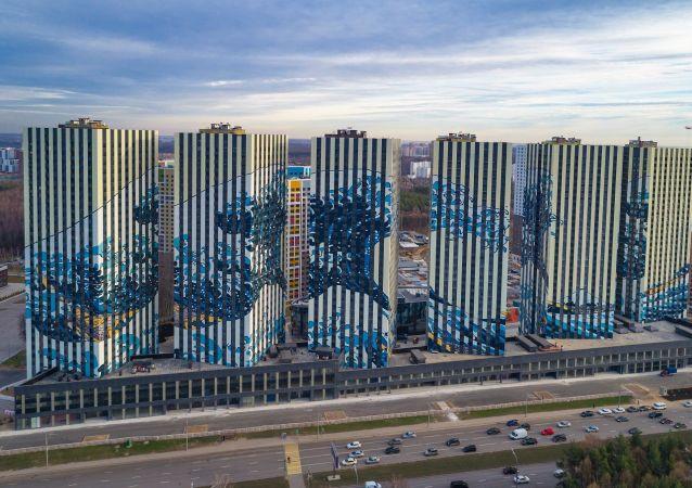 بناء جديد في جنوب موسكو