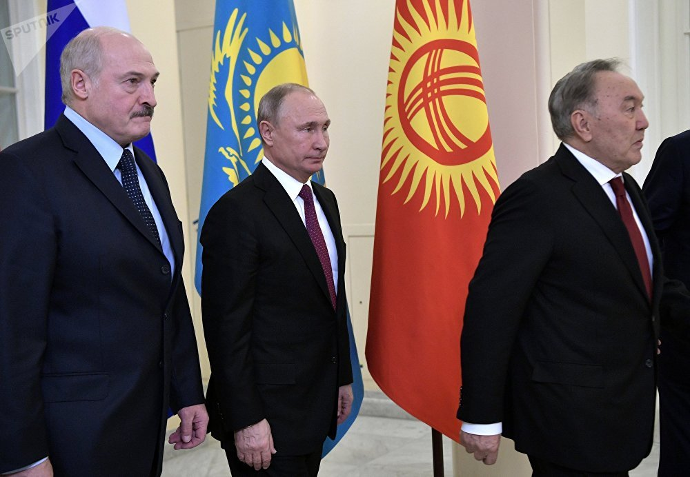 بوتين نزارباييف لوكاشينكو