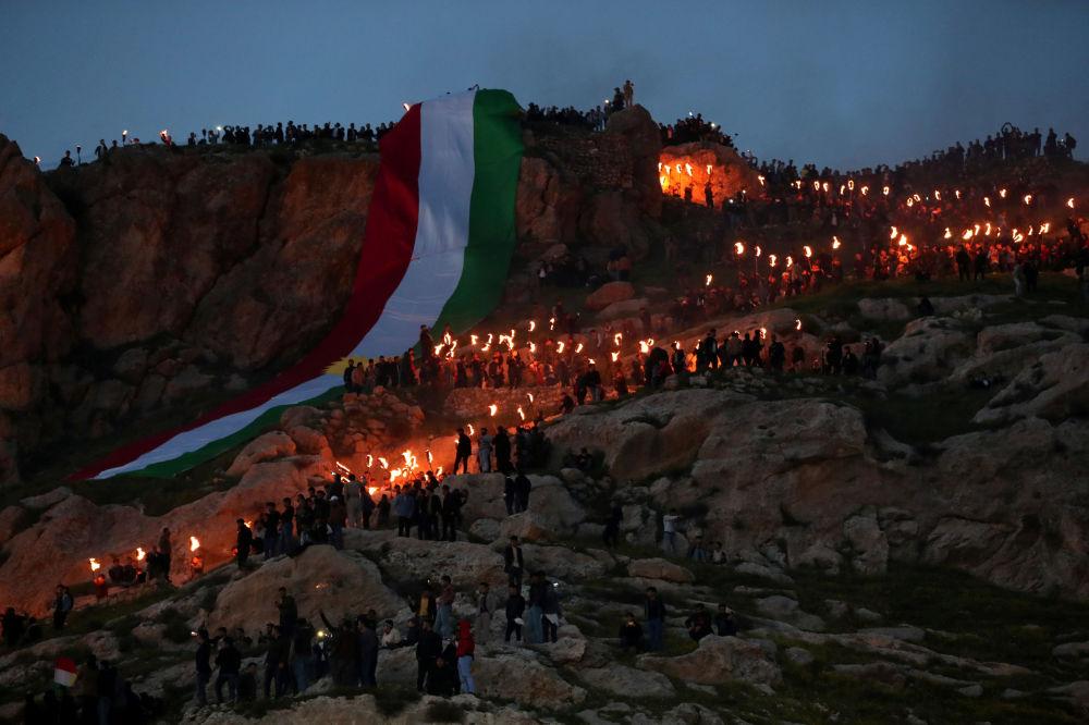 احتفالات الأكراد بعيد النوروز في العراق، 20 مارس/ آذار 2019