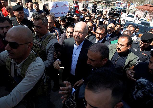 الرئيس العراقي برهم صالح في الموصل