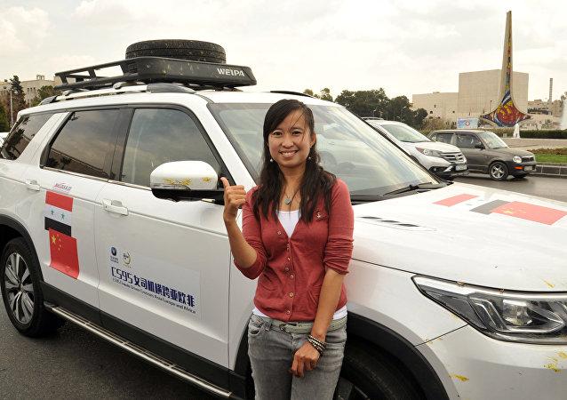 الصحفية الصينية وو شان في دمشق