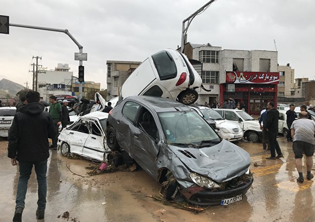 فيضان قوي في إيران