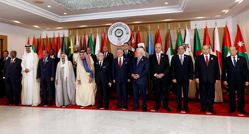 الزعماء العرب يستعدون للكاميرا قبل القمة العربية الثلاثين في تونس