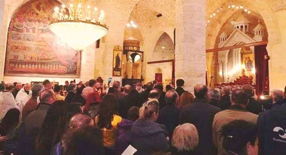 جانب من إعادة افتتاح كتدرائية الأربعين شهيد بحلب