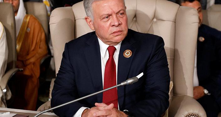 ملك الأردن عبدالله الثاني في قمة تونس، للجامعى العربية، في تونس، 31 مارس/ آذار 2019