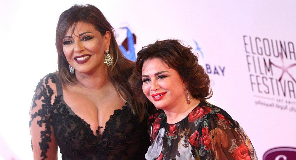 الفنانتان المصريتان هالة صدقي وإلهام شاهين