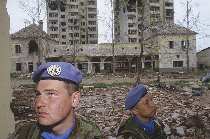 قوات الإنزال الجوي الروسية في يوغسلافيا عام 1992