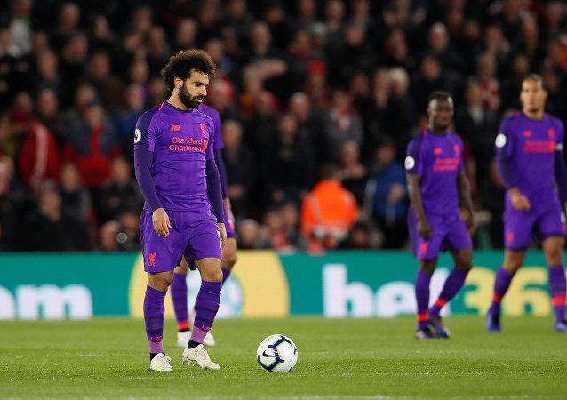 محمد صلاح في مباراة ليفربول ضد ساوثهامبتون، 5 نيسان/أبريل 2019