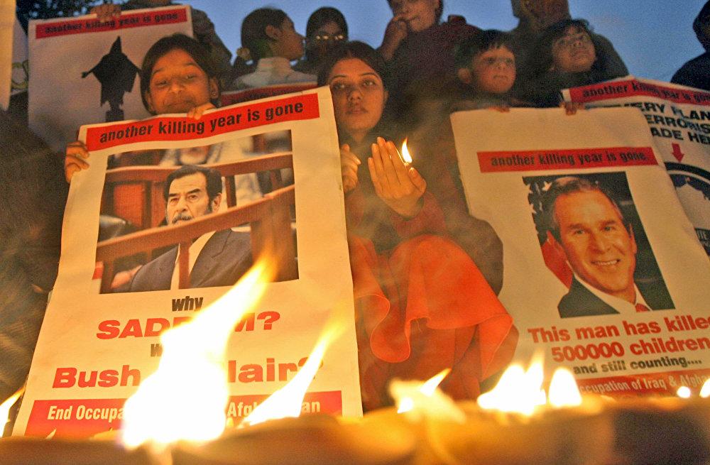 احتجاجات مناهضة للولايات الأمريكية وضد إعدام الرئيس العراقي صدام حسين، 30 ديسمبر/ كانون الأول 2006