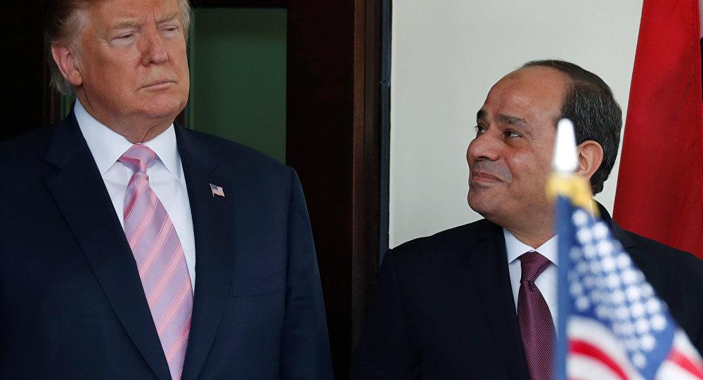 الرئيس الأمريكي ترامب يرحب بالرئيس السيسي في البيت الأبيض بواشنطن