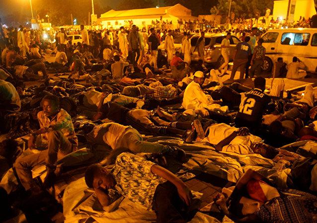 الاعتصامات أمام وزارة الدفاع السودانية
