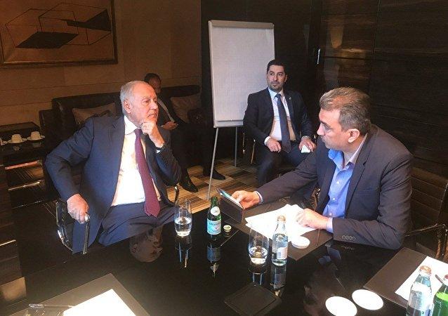 الأمين العام لجامعة الدول العربية أحمد أبو الغيط في حواره مع سبوتنيك