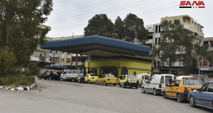 أزمة البنزين في درعا، سوريا، 7 أبريل/ نيسان 2019