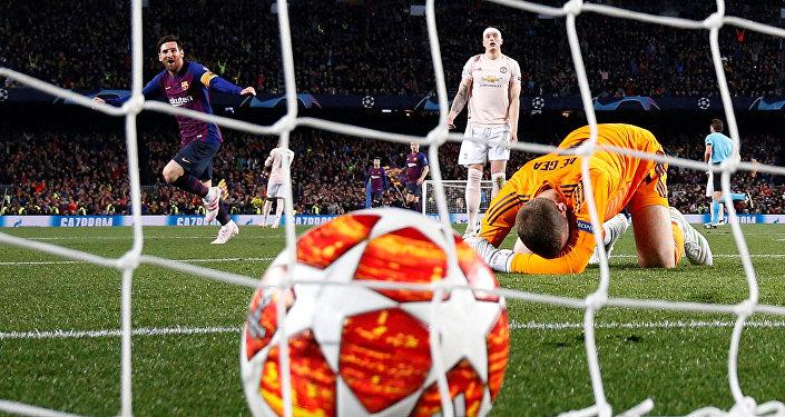 برشلونة ومانشستر يونايتد في دوري الأبطال
