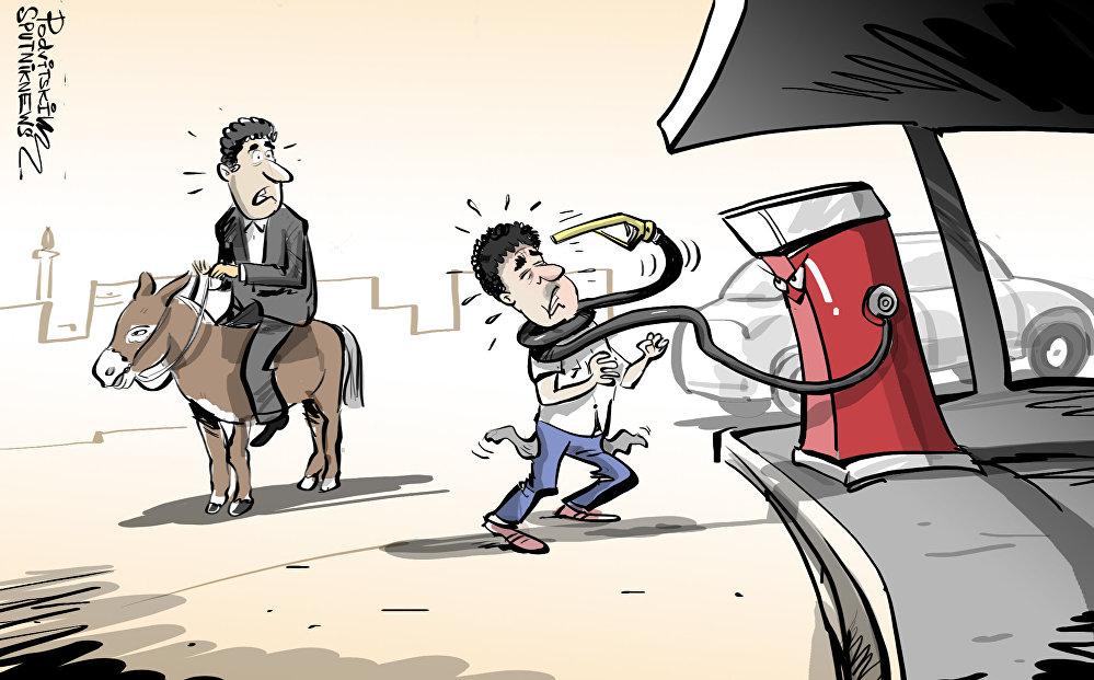 إجراءات تقشفية جديدة لشراء مادة البنزين في سوريا