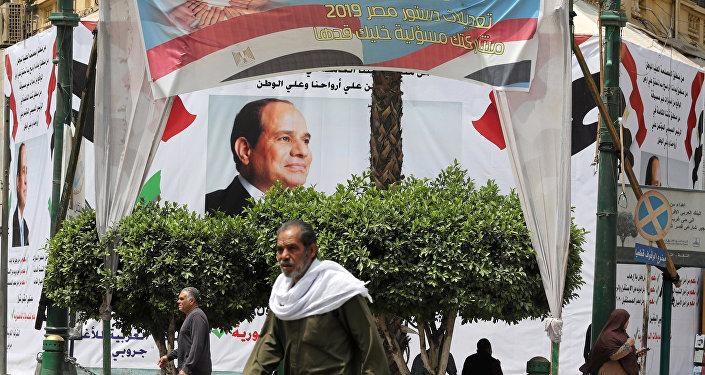 لافتات التعديلات الدستورية في مصر