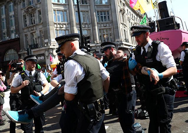 احتجاجات في لندن