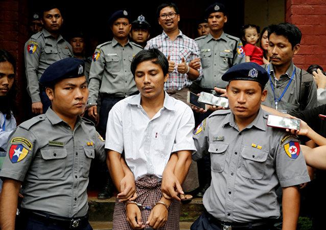 صحفيي رويترز المسجونين في ميانمار