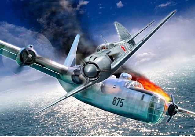 المعركة الجوية الأولى بين الروس والأمريكيين