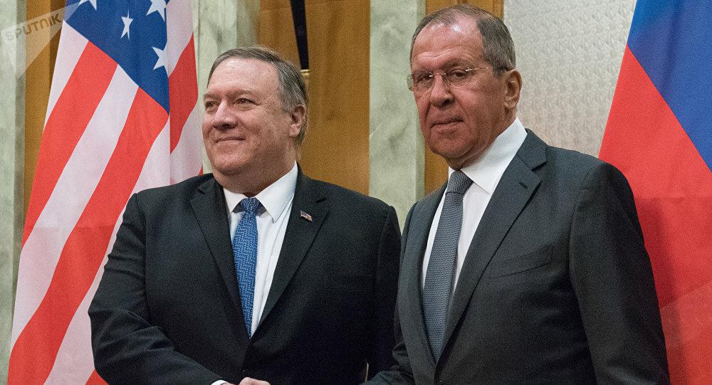 وزير الخارجية الروسي سيرغي لافروف يلتقي مع نظيره الأمريكي مايك بومبيو، 14 مايو/ أيار 2019
