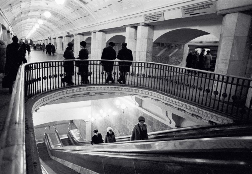 محطة مترو بروسبيكت ميرا، موسكو  1975