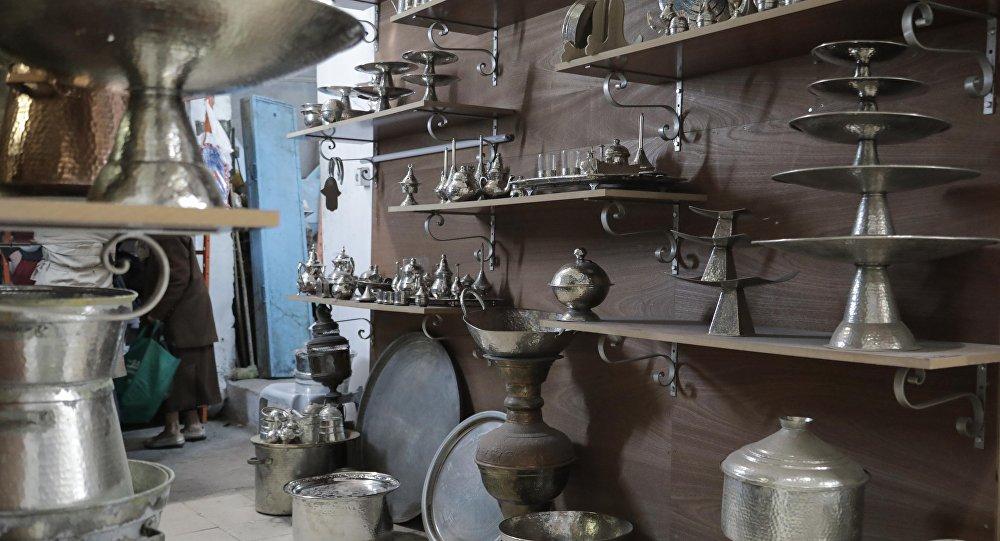 سوق النحاس بالمدينة العتيقة في تونس