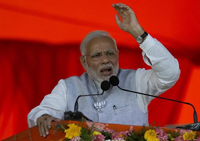 رئيس الوزراء الهندي ناريندرا مودي، نوفمبر/ تشرين الثاني 2018
