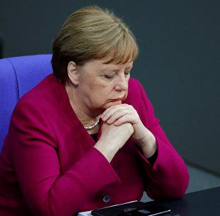 المستشارة الألمانية أنجيلا ميركل، ألمانيا 16 مايو/ أيار 2019