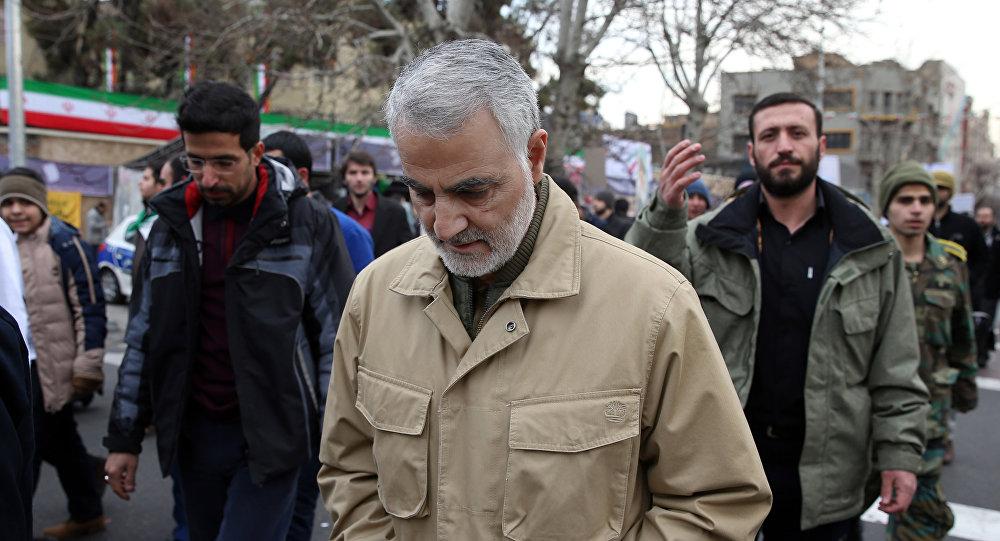 قائد فيلق القدس التايع للحرس الثوري الإيراني قاسم سليماني