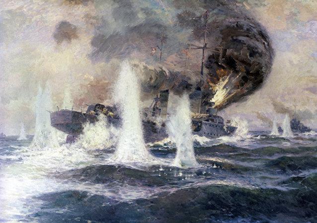 لوحة معركة في مضيق إيربين