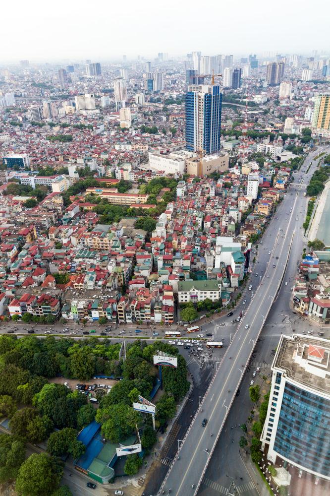 منظر لمدينة هانوي من نافذة الفندق Lotte في فيتنام