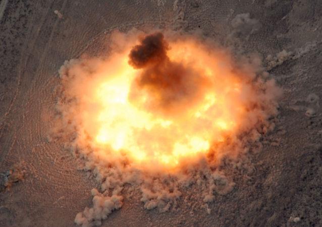 انفجار قنبلة