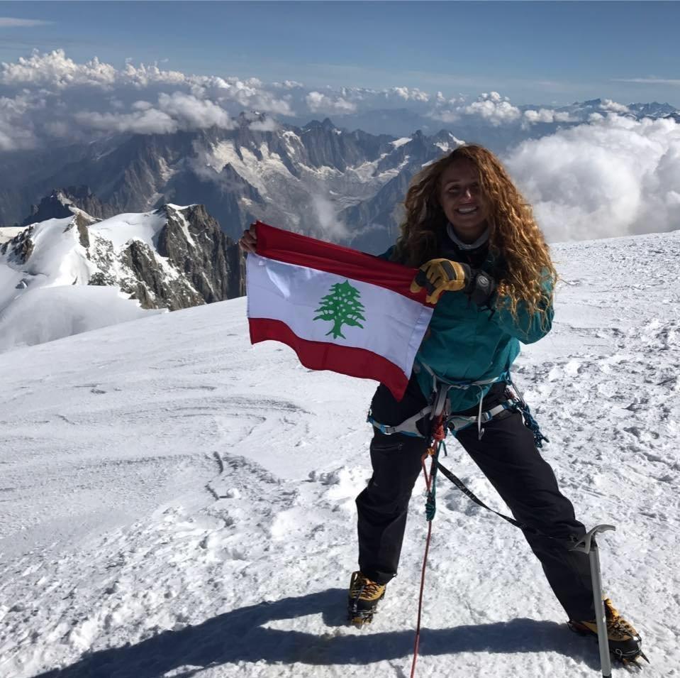المتسلقة اللبنانية فاطمة دريان