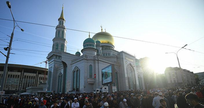المسجد الكبير في العاصمة الروسية موسكو