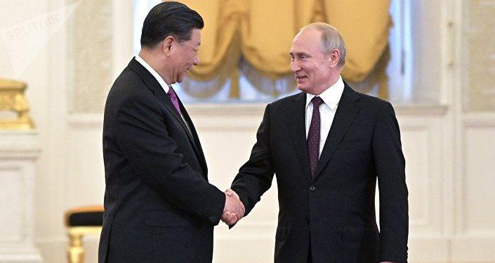 الرئيس فلاديمير بوتين يلتقي مع نظيره الصيني شي جين بينغ في الكرملين، موسكو 5 يونيو/ حزيران 2019